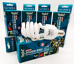 Лампа для птиц ZOODA BIRD LAMP Е27 2.4% UVB 12% UVA